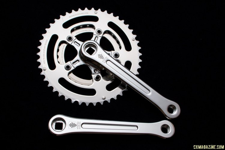 IRD's Defiant square taper crankset, shown with 46/30 chainrings. © Cyclocross Magazine