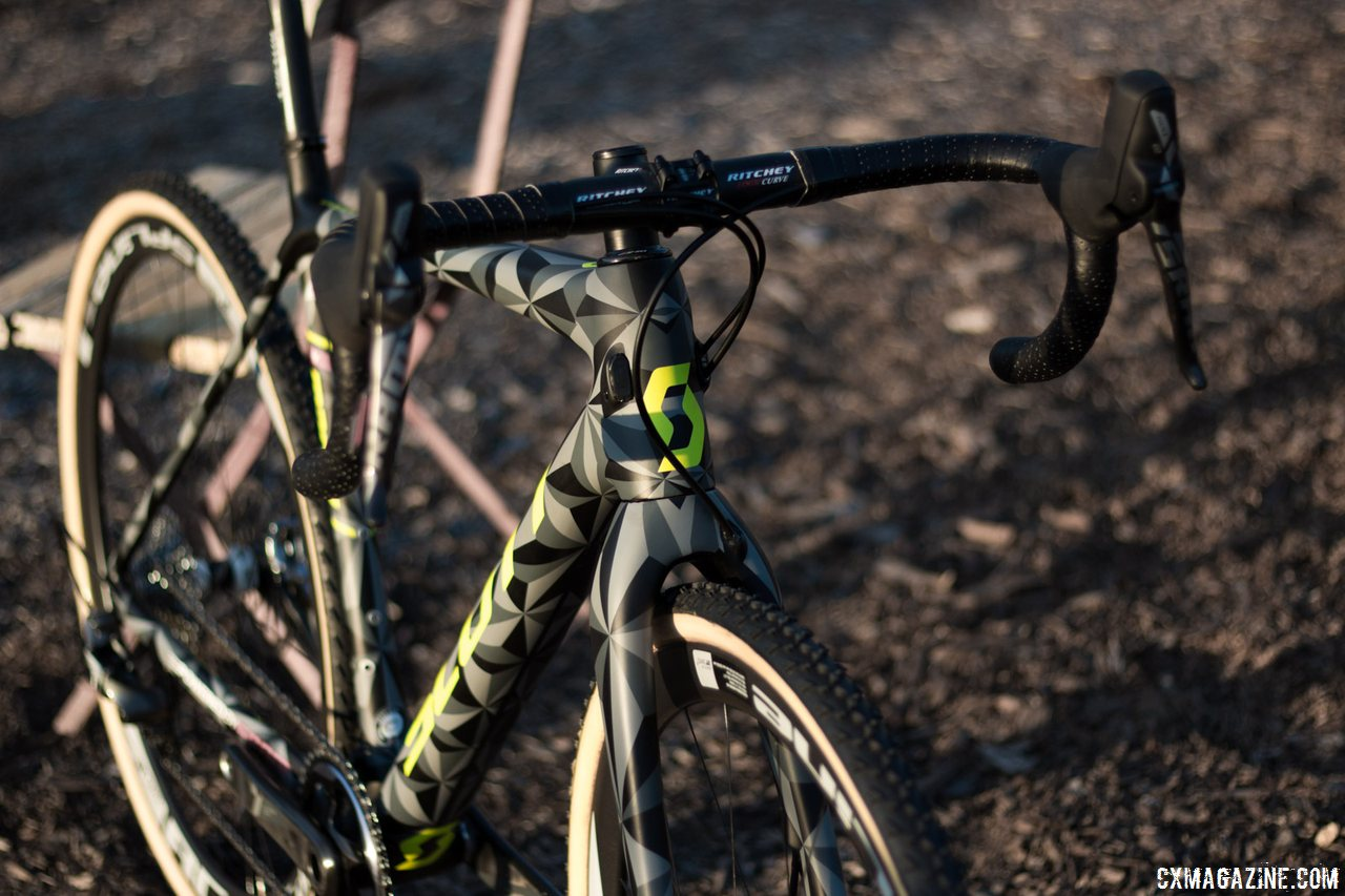 This Scott Addict CX 2016 camo prototype finish won't