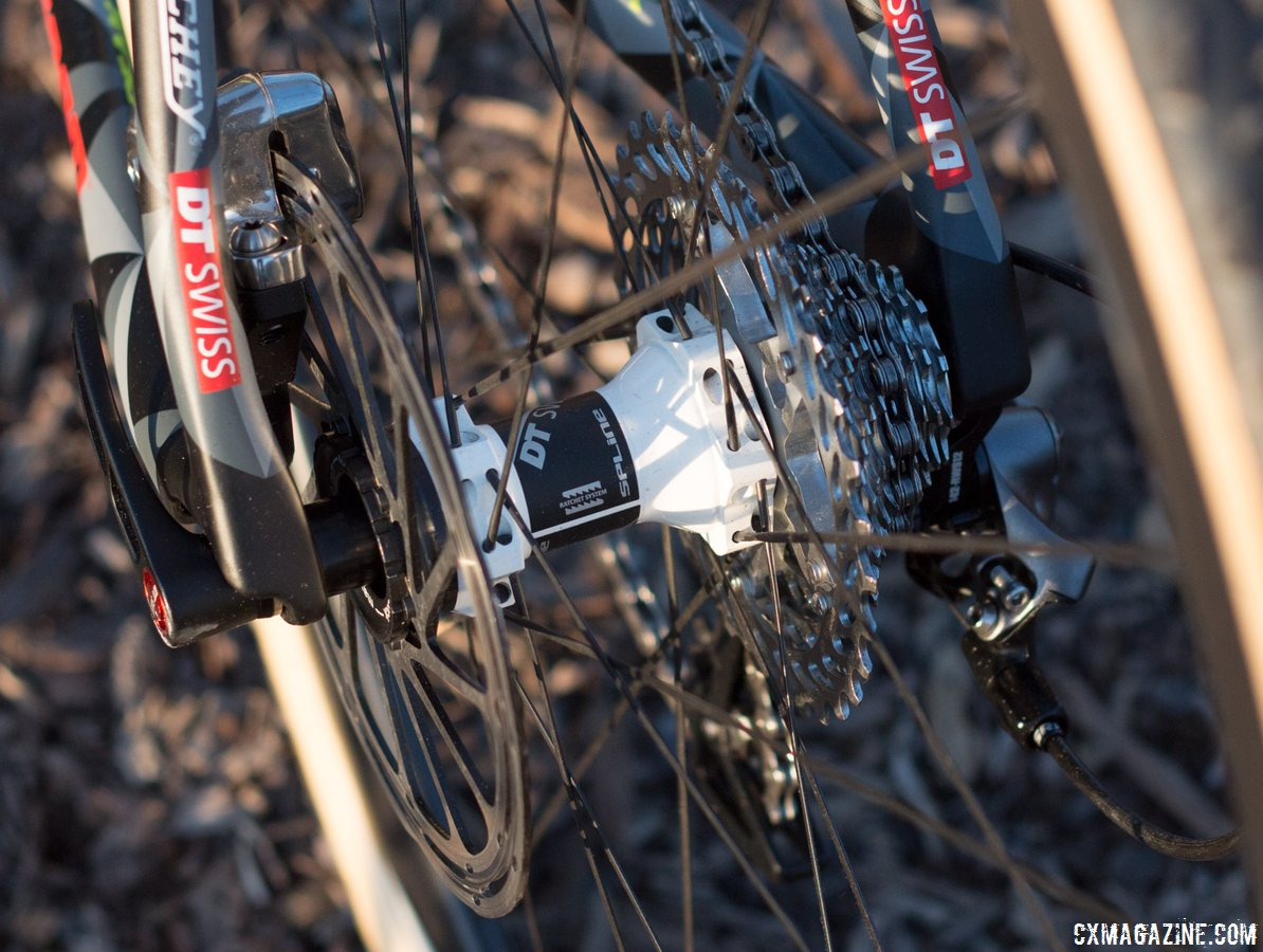 142x12mm thru axle in the rear. Scott Addict CX 2016 launch - Sea Otter 2015