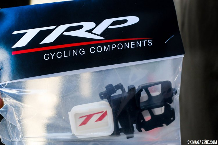 TRP now offers its Hylex Di2 Adaptor Kit for consumers. $49.99, and as ridden by Ben Berden this year. Sea Otter Classic 2015. © Cyclocross Magazine