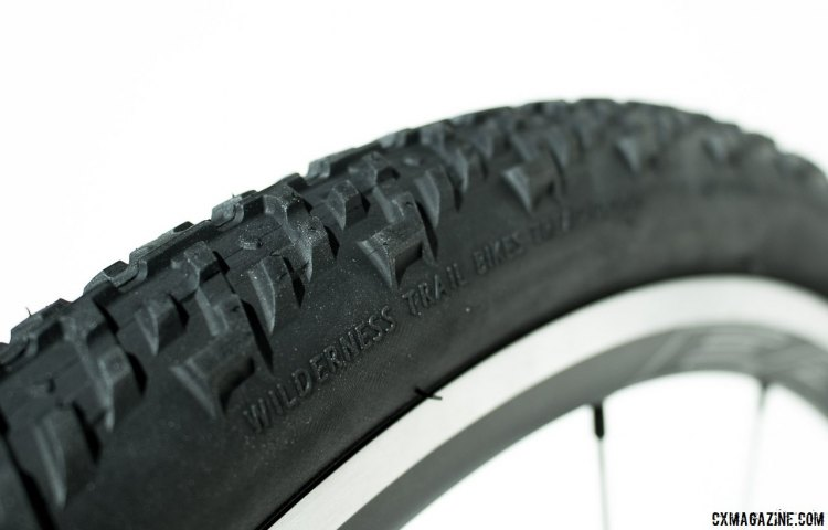 WTB's new Nano TCS 40c tubeless gravel tire features a good side knob that keeps you upright in loose corners. © Cyclocross Magazine
