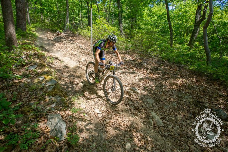 Dan Timmerman (Riverside Racing) descends a fast, dry section of trail during stage 7 of the NoTubes Trans-Sylvania Epic. Photo by Trans-Sylvania Epic Media Team
