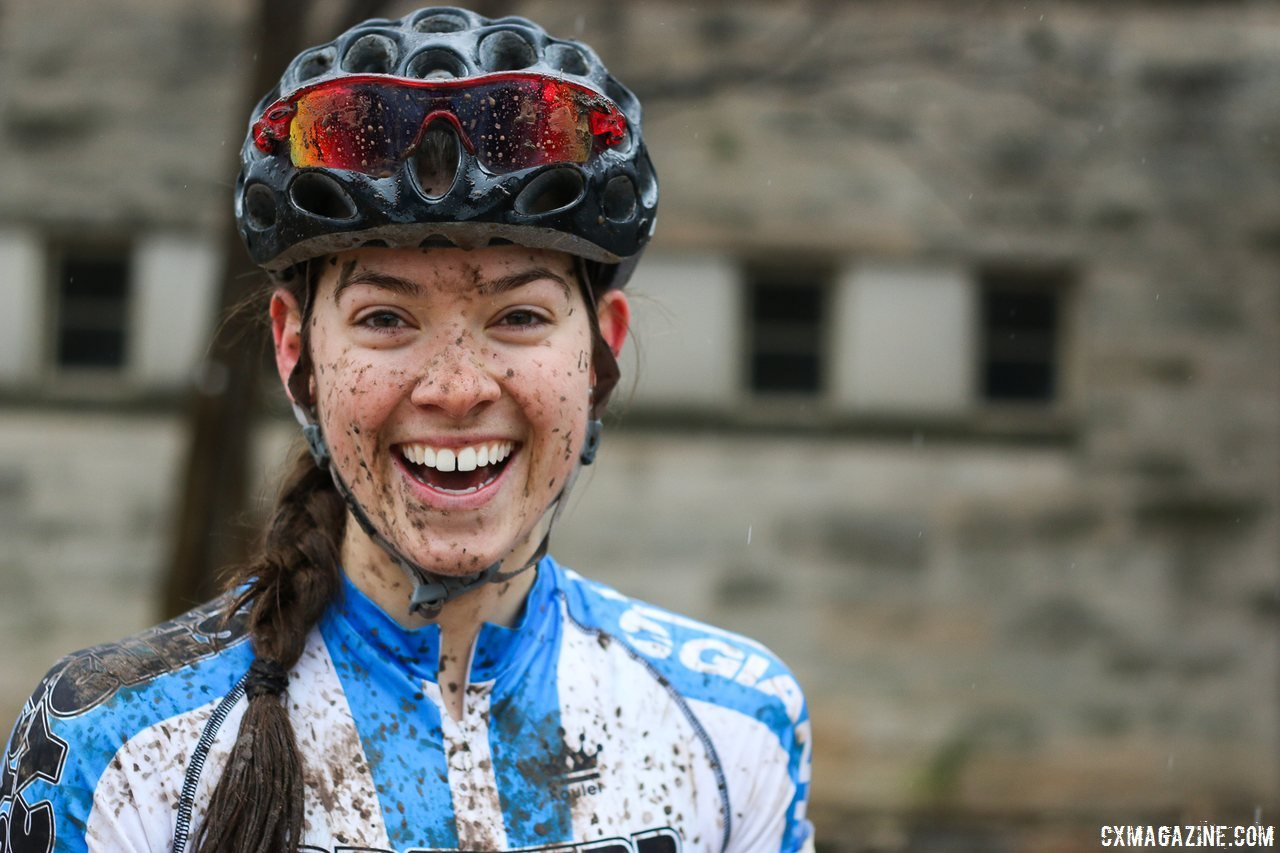 Allison Arensman was the beneficiary of a lot of support from her North Carolina Community. 2015 Collegiate Cyclocross Nationals.© Cyclocross Magazine