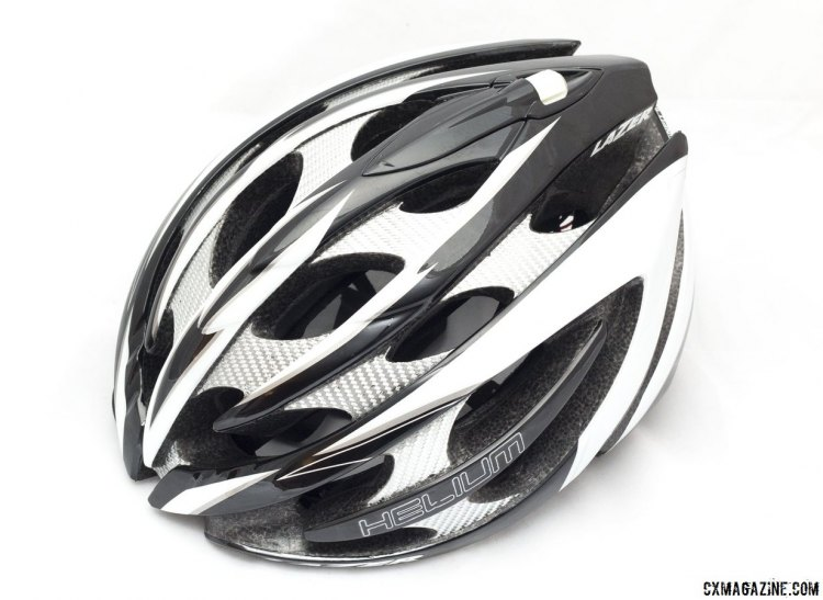 The Lazer Helium cycling helmet. © Cyclocross Magazine