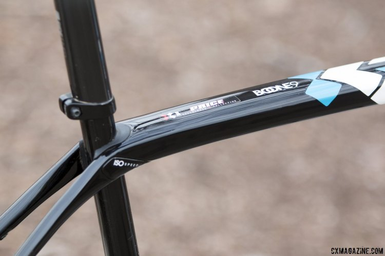 Trek's IsoSpeed decoupler allows the seat tube to move independently from the top tube, making for a more compliant ride. © Cyclocross Magazine