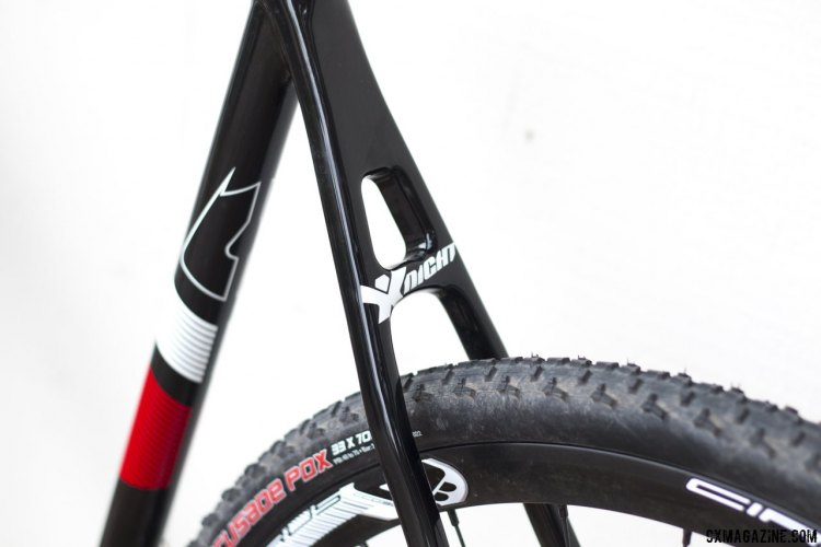 Ridley's thin seatstays surround the Clement PDX tubulars of our supplied test model.. © Cyclocross Magazine