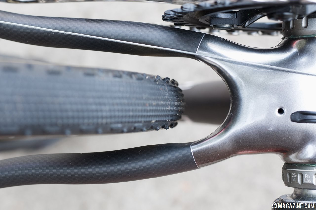 Modern tire clearance for tires as fat as 40c on the Alan Super Cross carbon cyclocross bike. © Cyclocross Magazine