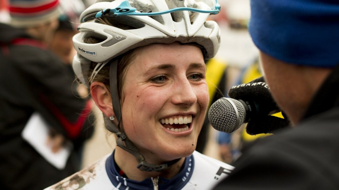 Ellen Noble wants to take aim for the Youth Women's World Championship in 2016, and while she likes the progress being made, she acknowledges that more needs to be done. © Cyclocross Magazine