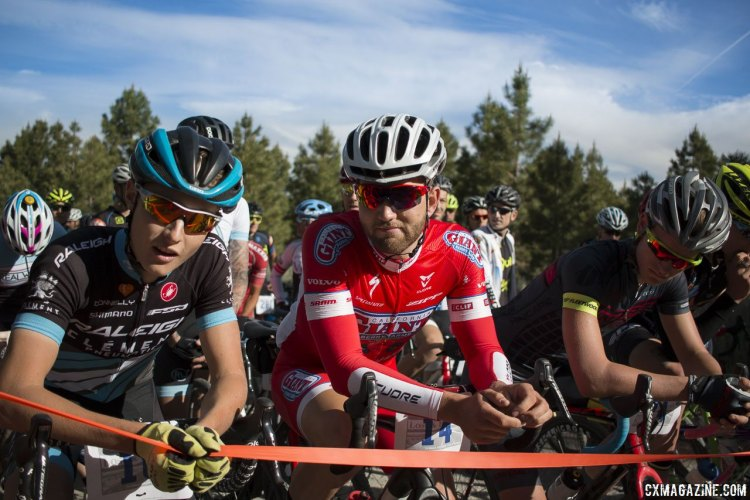 Lance Haidet and Tobin Ortenblad ready for 100-miles of gravel. 2015 Lost and Found gravel race. © Cyclocross Magazine