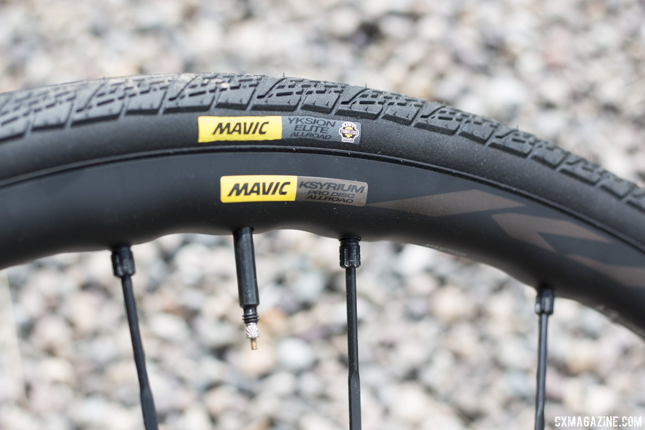 72f0949bd4c Mavic's new Ksyrium Pro Disc Allroad wheel tire system is ready for gravel,  even though