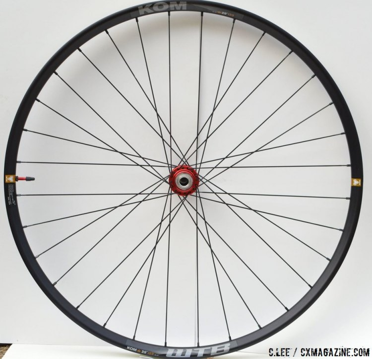 The WTB KOM Tubeless Wheelset with White Industry Hubs. © C. Lee / Cyclocross Magazine