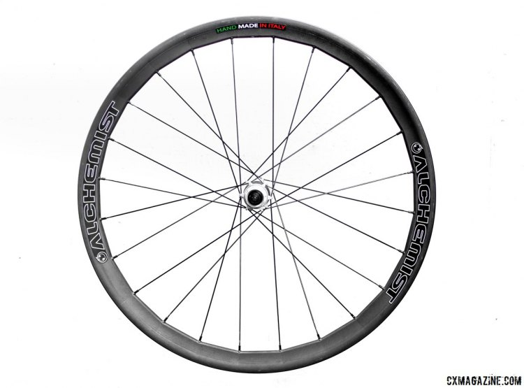 Alchemist's made-in-Italy tubeless carbon disc CX wheels. © Cyclocross Magazine