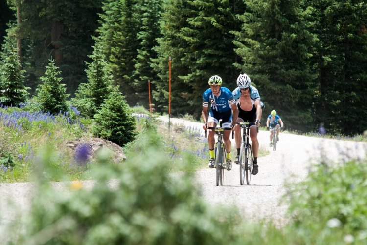 The Crusher course passes through rolling terrain on the way to the final climb to Eagle Point ski resort. These last rollers are deceptively difficult and many riders have found their legs completely crushed before they even reach the final climb.