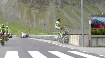 Vittorio Brumotti gives Tinkoff Saxo more to celebrate this July with his riding in Livigno