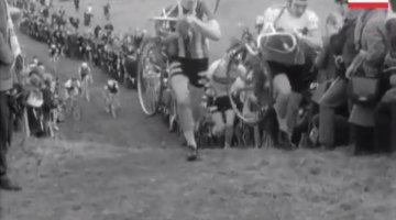 1973 Cyclocross World Championships in London's Crystal Palace. photo: AP video screenshot