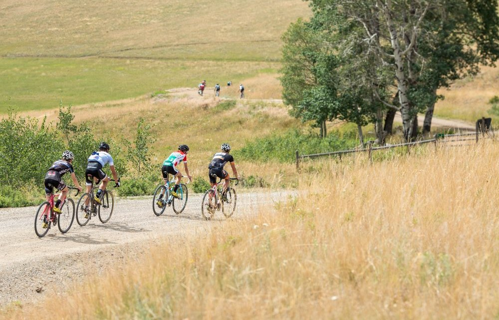 Afternoon endurance rides along remote gravel roads in back country Montana provide a great opportunity for camaraderie and friendly competition. © Tom Robertson.