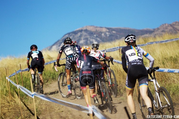 Elite riders and some high-caliber racers from CrossVegas continued the racing action in Utah for Ogden CX presented by TRP Brakes. © Catherine Fegan-Kim