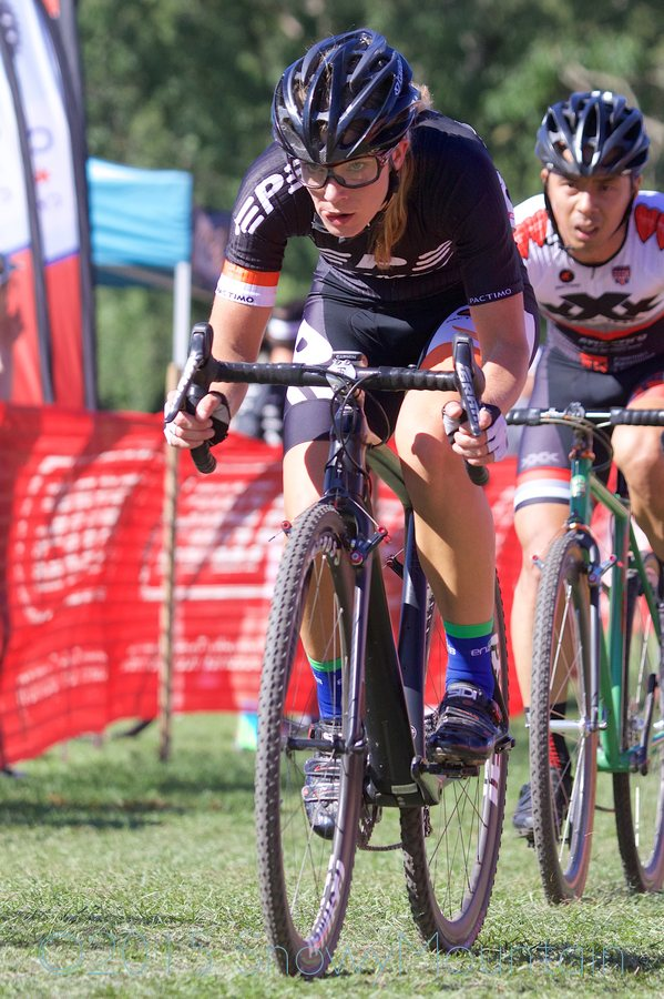 Defending women's state champion Sydney Guagliardo (Barrington, IL) raced in the Men's 1/2/3 because of a scheduling conflict.