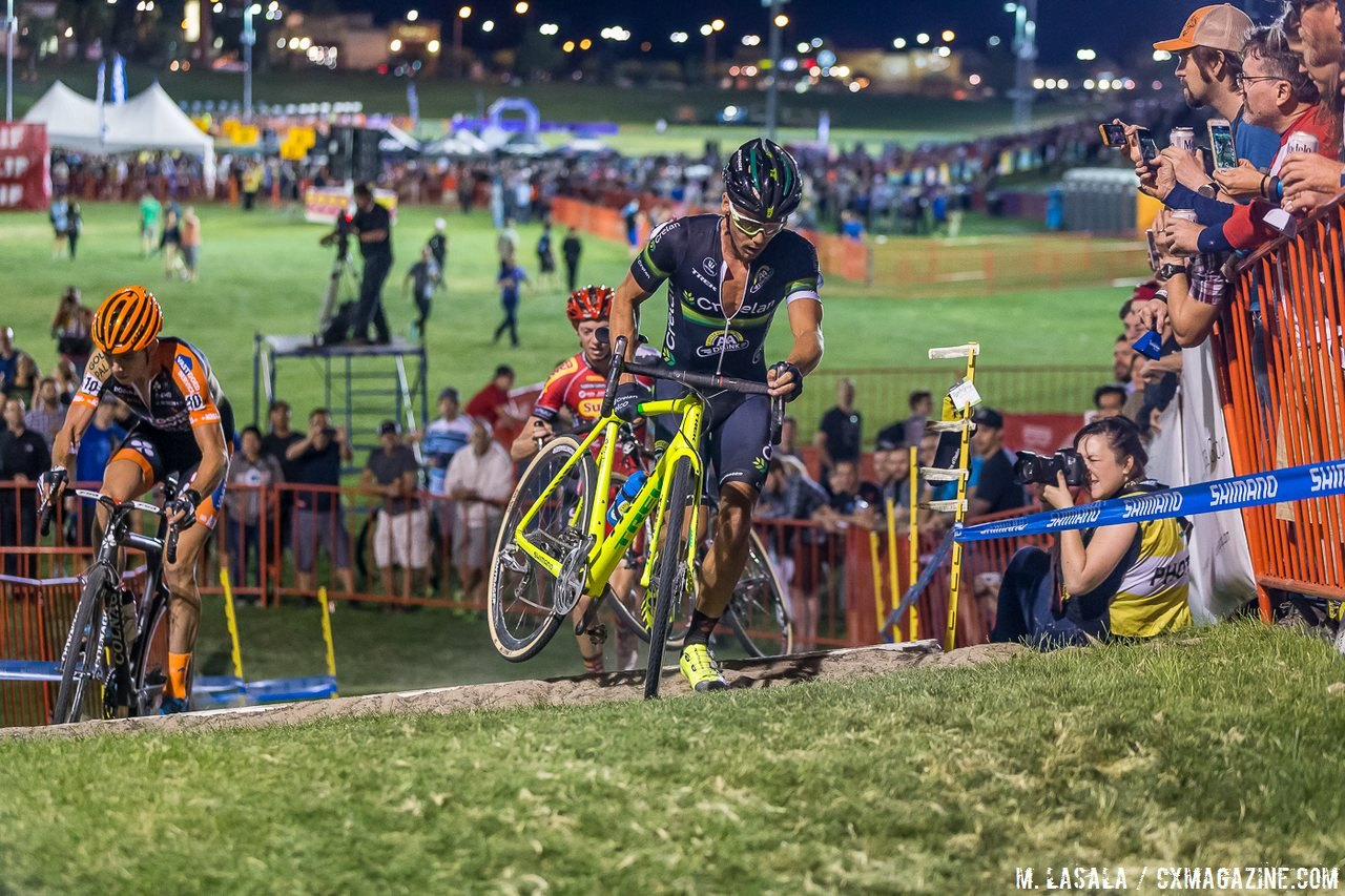 Nys led the biggest counterattack of the day, and spent a few laps in first place. © Matthew Lasala / Cyclocross Magazine