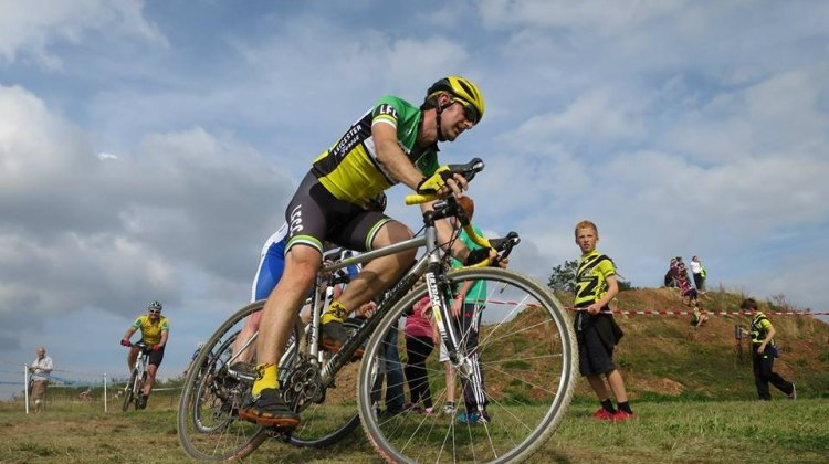 Andy Ward has already tackled the cyclocross course, but is learning how to contend with 3 Peaks as well. © Simon Askham