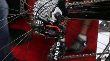 The Rotor hydraulic shifting group has housing as thin as an electronic group, and feels much like the resistance of a mechanical shifter as we ran through the gears at Interbike. © Andrew Reimann / Cyclocross Magazine