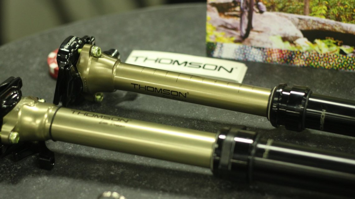 Thomson's 27.2 Dropper Post at Interbike 2015. © A. Reimann / Cyclocross Magazine