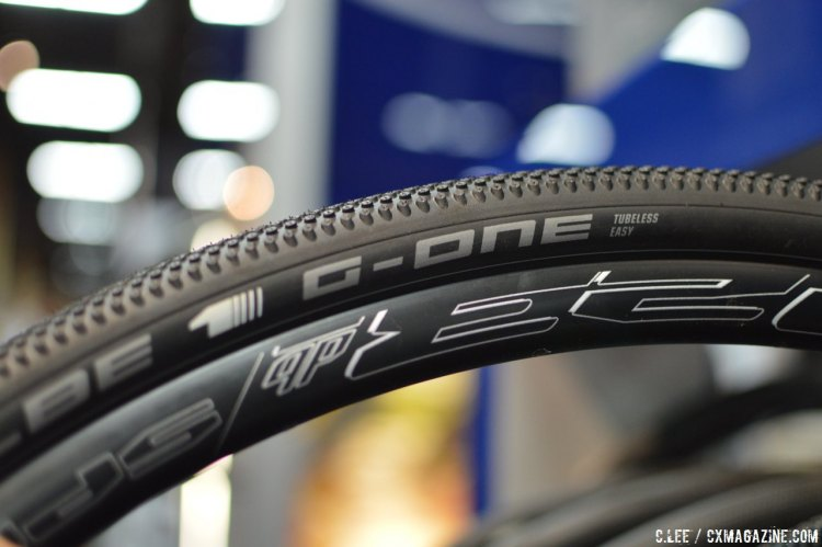 Schwalbe's tubeless tires at Interbike 2015. © Clifford Lee / Cyclocross Magazine