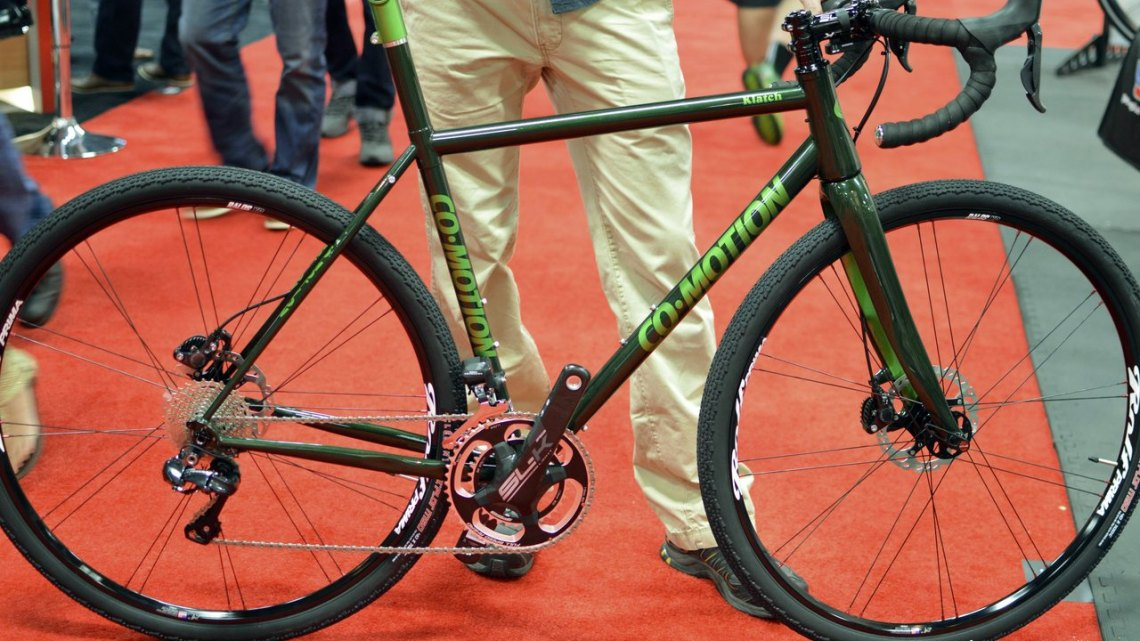 Co-Motion Klatch CS3 Gravel Bike at Interbike 2015. © Clifford Lee / Cyclocross Magazine