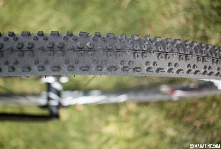 Schwalbe's X-One tubeless cyclocross tire, as seen on Adam Craig's CrossVegas cyclocross bike. 370 gram 33C tire3 with Microskin bead to bead protection © Cyclocross Magazine