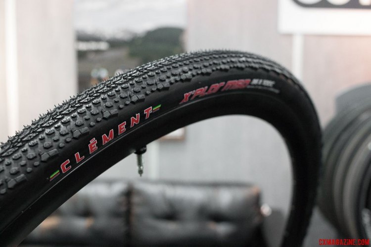 Clement offers a 32c and 40c X'Plor MSO clincher, but now has a 36c tubeless X'Plor MSO for tubeless fans, ourselves included. Tested at Rebecca's Private Idaho, coming this fall. Interbike 2015. © Cyclocross Magazine