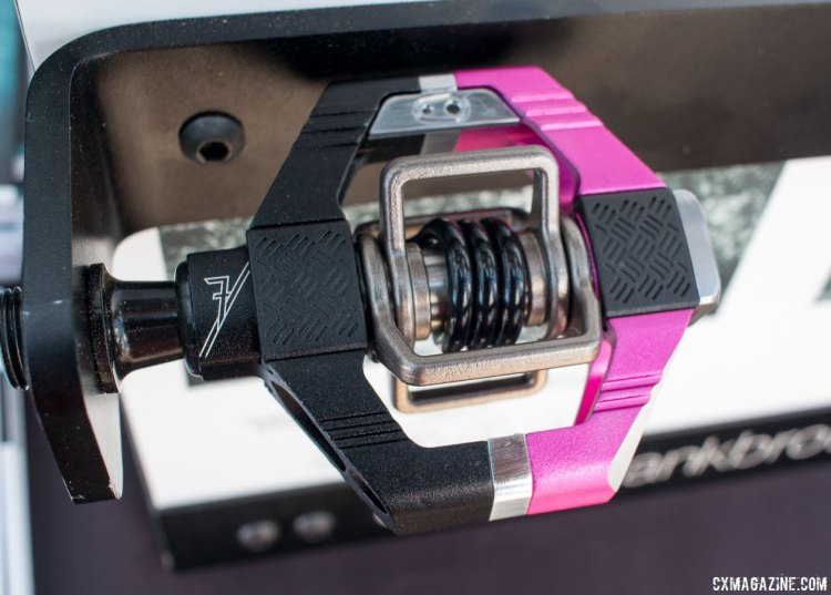 The new updated CrankBrothers Candy 7 and Candy 11 pedals gain new seals, bearings, traction pads and pedal bodies. As seen at 2015 Interbike. © Cyclocross Magazine