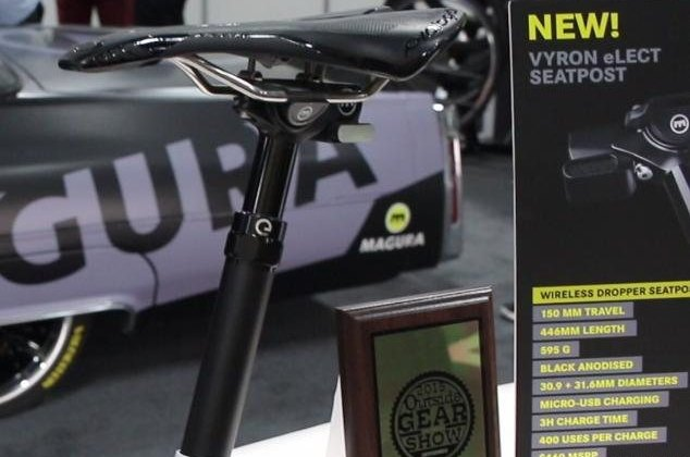 Magura Vyron eLect wireless ANT+ dropper seat post. © Cyclocross Magazine