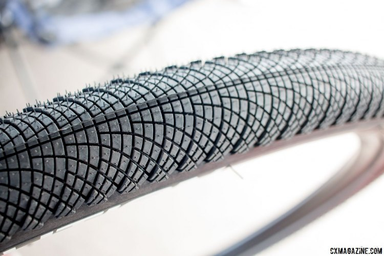 Vittoria's new Revolution series of tires with their fish scale tread look to be ideal commuter and hardpack dirt tires. © Cyclocross Magazine