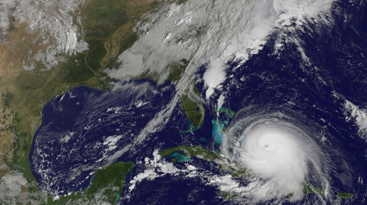 Satellite photo of Hurricane Joaquin. by NASA