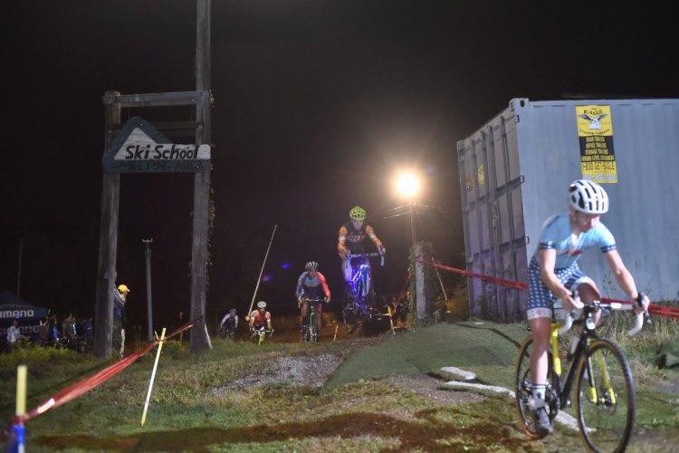 Glowing bikes and big air -- just another night at Holy Week