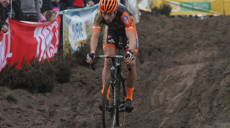 Wout van Aert was unstoppable at Zonhoven, winning by a large margin. © Bart Hazen