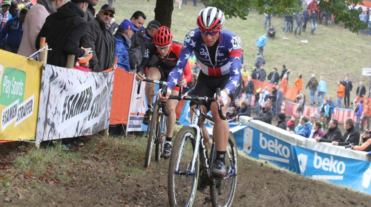 Jeremy Powers started strong, and ended up in 41th place in the Elite Men's race © Bart Hazen