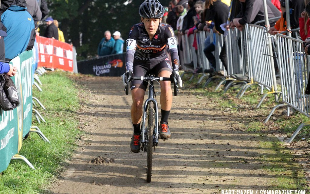 Crystal Anthony rode well at the Valkenburg World Cup, finishing in 12th place. © Bart Hazen