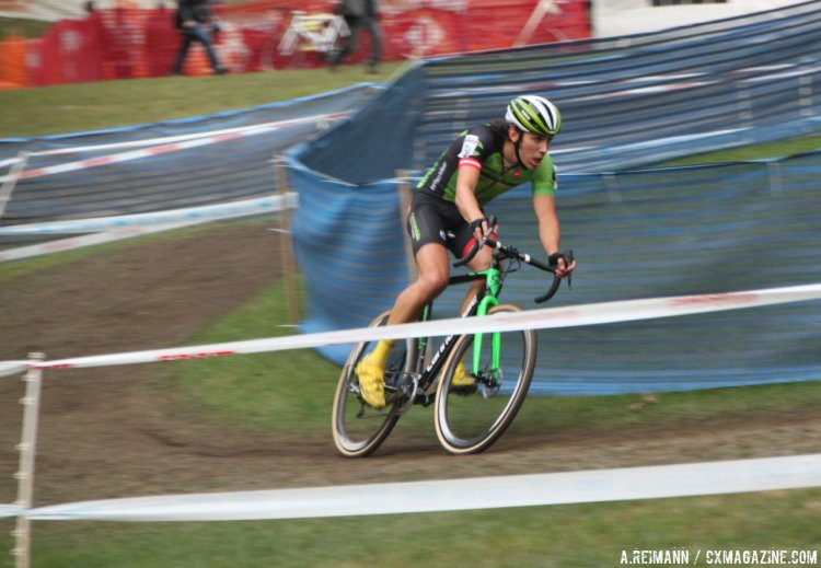 White now has three second place finishes in two weekends. © Andrew Reimann / Cyclocross Magazine