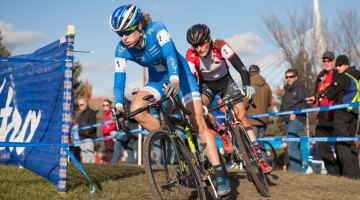 Maghalie Rochette and Mical Dyck in the section where Rochette got away. © Thomas Fricke