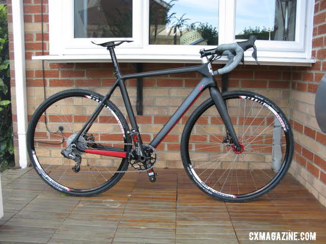 Paul Townsend's bike with his custom Ultegra Di2 clutch derailleur.