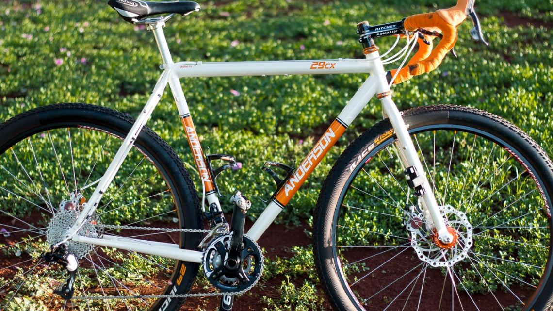 John Girmsey Jr.'s Anderson custom 29CX monster cross bike. © Cyclocross Magazine