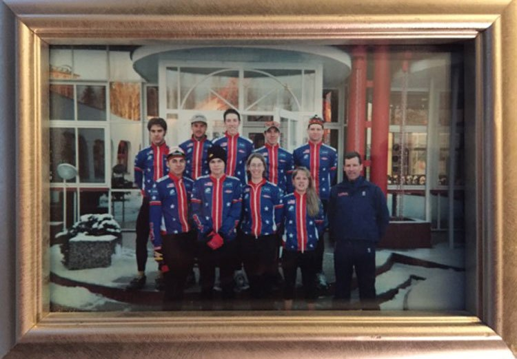The U.S. National Team at the 2001 Cyclocross World Championships in Tabor, Czech Republic. © Aaron Menenberg