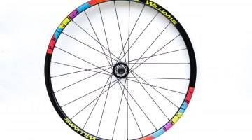 Colorful graphics. Front wheel set up as 15mm Thru-Axle