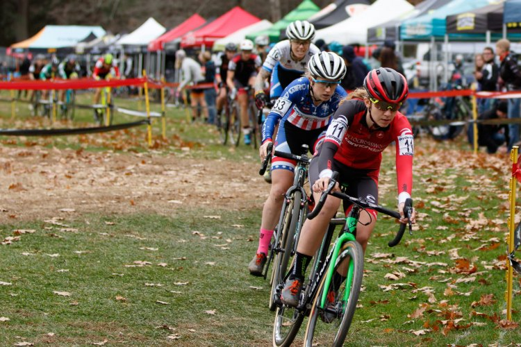 Ellen Noble and Emma White lead the charge. Photo by Todd Prekaski