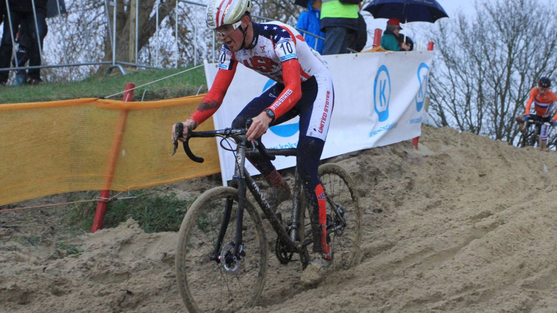 Last year's Koksijde winner, Gage Hecht, had an off day and ended up in 21st. © Bart Hazen