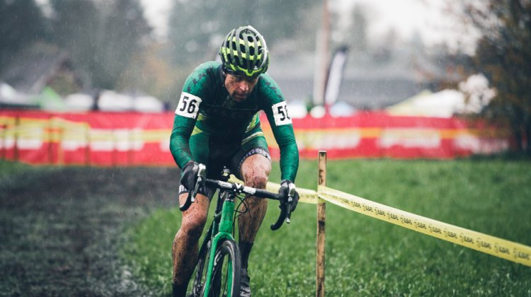 Jonathan Page raced his way to third place on day one of the Subaru Cyclo Cup. © Derek Blagg