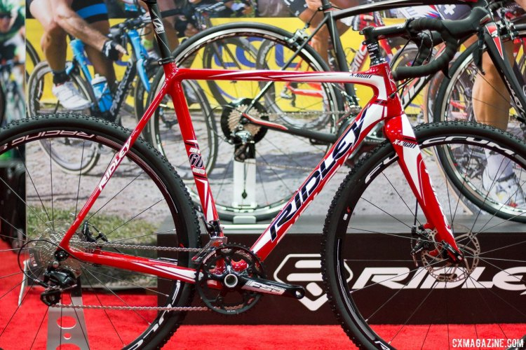 The 2016 Ridley X-Night 60 keeps Ridley's race-proven geometry, but uses a smart parts spec and slightly heavier carbon layup to keep the price lower.© Cyclocross Magazine