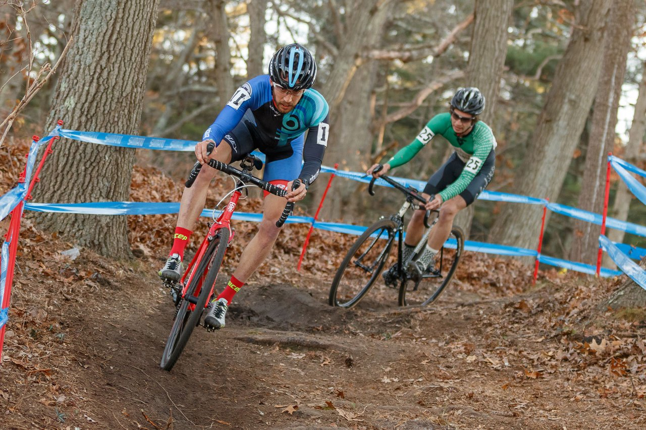 Ben Frederick (left) raced near the front of the domestic UCI scene in 2015. 2015 NBX Grand Prix. © Todd Prekaski