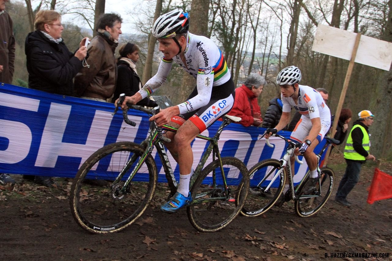 When it came time, the World Champion took to the front with only van Aert able to respond.